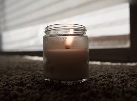 A jar candle