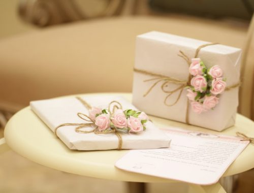 Pretty gift boxes for wedding
