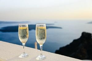 White wine glasses for couple